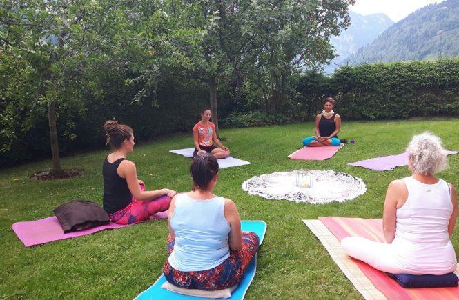 Yoga Tag bei mir im Garten
